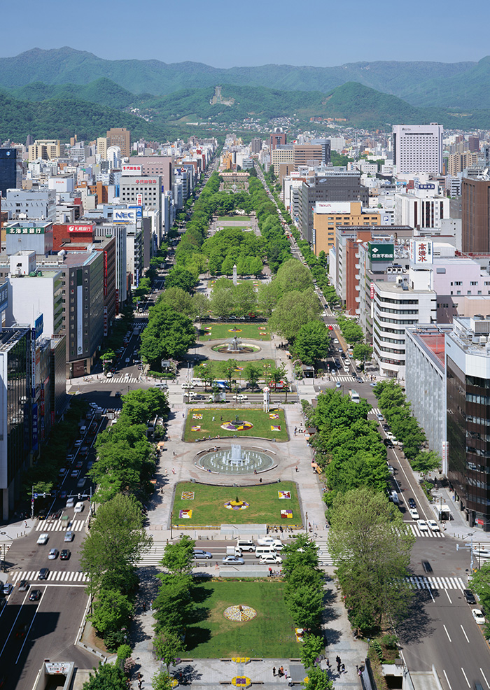 Odori Park and Sapporo TV Tower