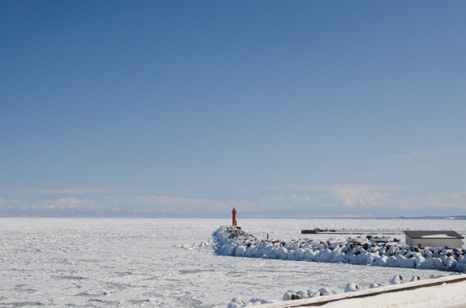 Drift Ice near Masuura View Point Parking in Abashiri