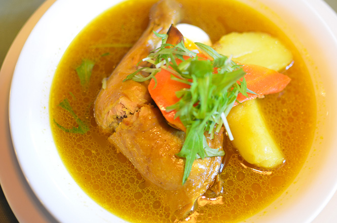 Chicken Soup Curry -Coffee House in Sapporo-