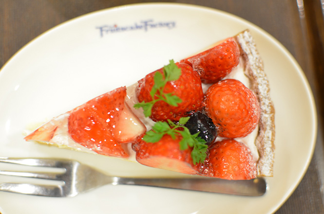 strawberry tart -Fruits cake Factory in Sapporo-