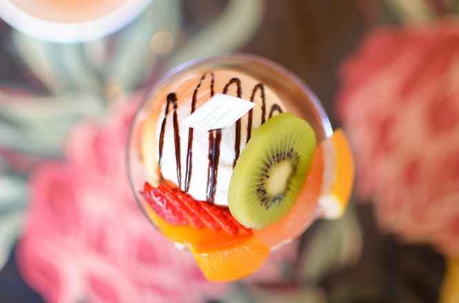 Baked Pudding Parfait -Cherry Merry in Sapporo-