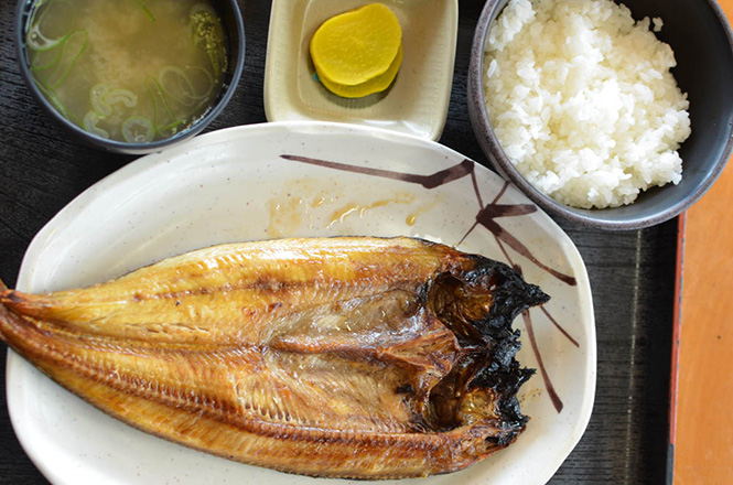 Grilled Atka Mackerel Combo -Kakizaki Shoten in Yoichi-