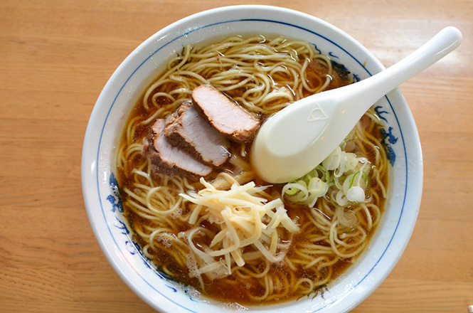Soy Sauce Broth Ginger Ramen -Mizuno in Asahikawa-