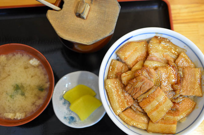 Pork Rice Bowl -Tonta in Obihiro-