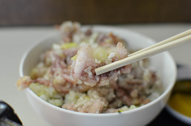 Fried Squid Legs Rice Bowl -Hana-chan in Asahikawa-