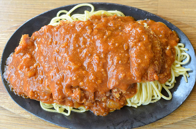 Spakatsu(Spaghetti and Cutlet) -Restaurant Izumiya in Kushiro-