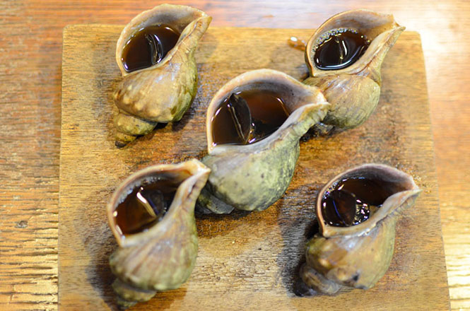 Grilled Whelk -Kadoya in Kushiro-
