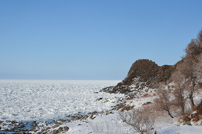 Drift Ice, Oshinkoshin Falls, Utoro, Shiretoko National Park