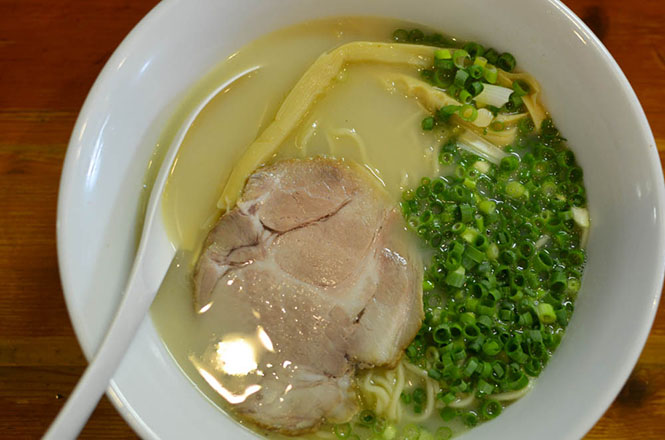 Salt Ramen with Whitish Chicken-Bone Soup -Nanabe in Sapporo-