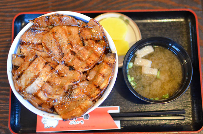 Pork Rice Bowl -Butaichi in Obihiro-