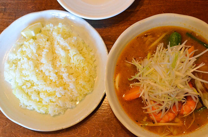 Soup Curry with Seafoods, Medicine Man