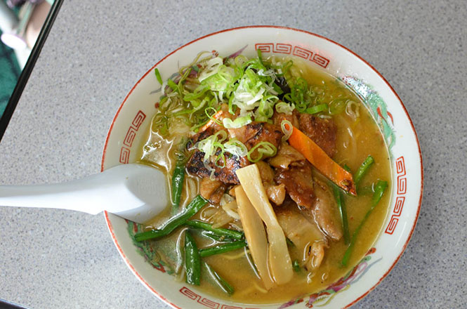 Broiled Pig Innards Miso Broth Ramen -Himawari Head Office in Asahikawa-