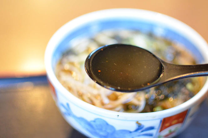 Buckwheat Noodles with Herring -Yamagen in Esashi-