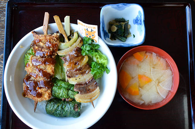 Akan Grilled Venison Rice Bowl -Restaurant Kisen in Kushiro-