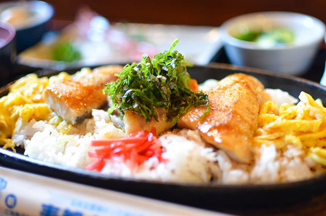 Rice Topped with Broiled Atka Mackerel Combo -Tatsumi in Suttsu-