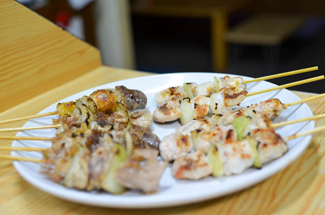 Grilled Chicken on Skewers -Mifune in Iwamizawa-