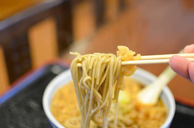Buckwheat Noodles with Agedama -Seiichi in Horokanai-