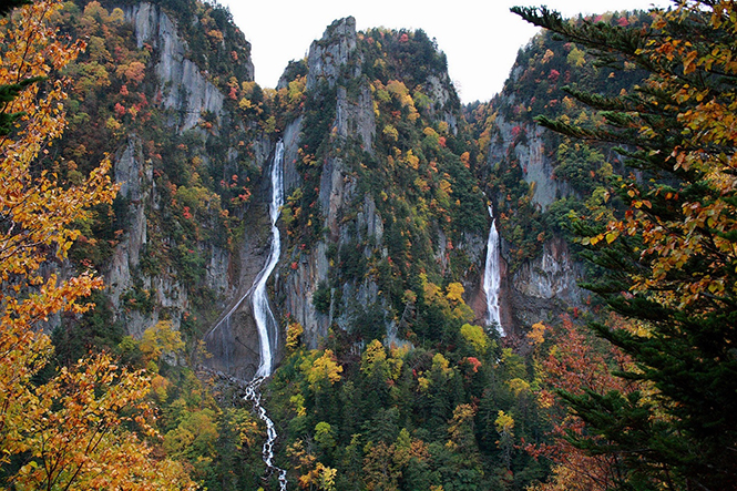 Sounkyo, Ryusei Falls and Ginga Falls