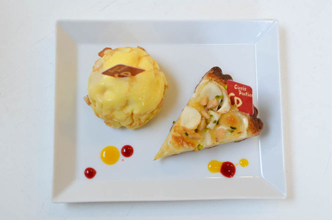 Peach Crepe and Lily Bulb Crostata -Ciccio Pasticcio in Hakodate-