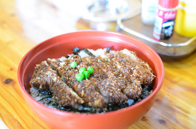 Pork Cutlet Rice Bowl with Sauce -Fukuyoshi in Kunneppu-