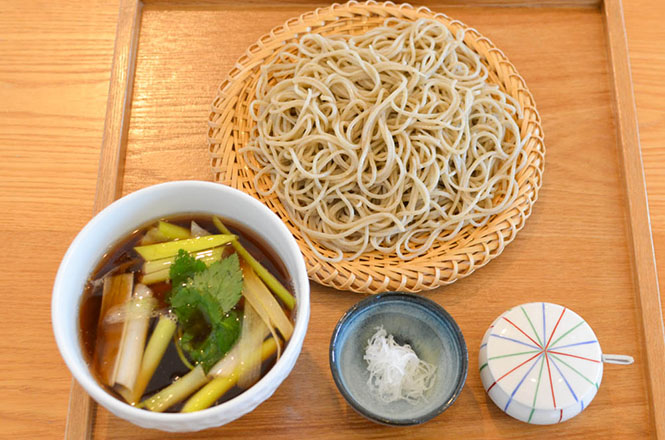 Buckwheat Noodle with Duck and Green Onions -Mansaku in Kami-furano-