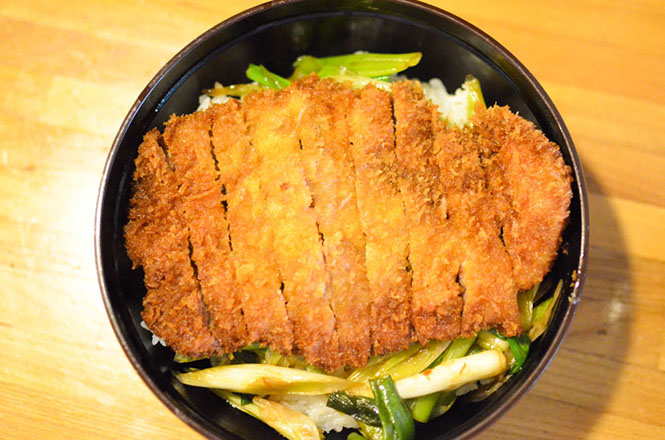 Pork Cutlet Rice Bowl with Soy Sauce -Tanaka in Imagane-