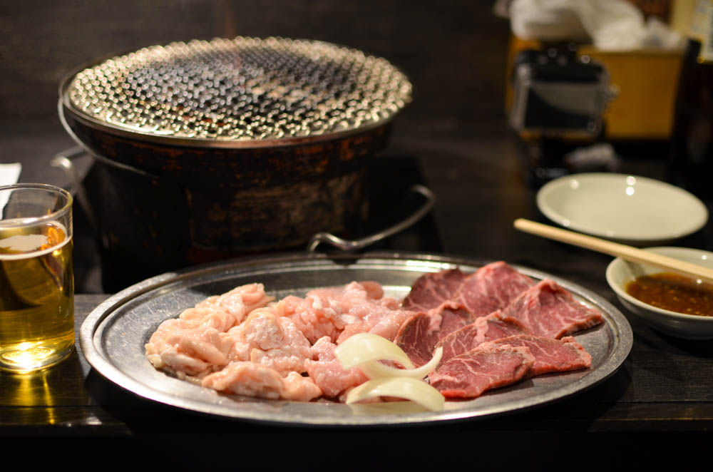 Broiled Pig Innards -Yojo Hormone in Kitami-