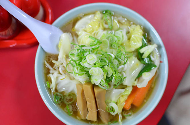 Soy Sauce Broth Ramen with Vegetables -Baikohken in Asahikawa-