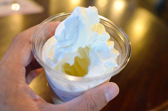 Sake Lees Soft Serve Ice Cream -Chitosetsuru Sake Museum in Sapporo-