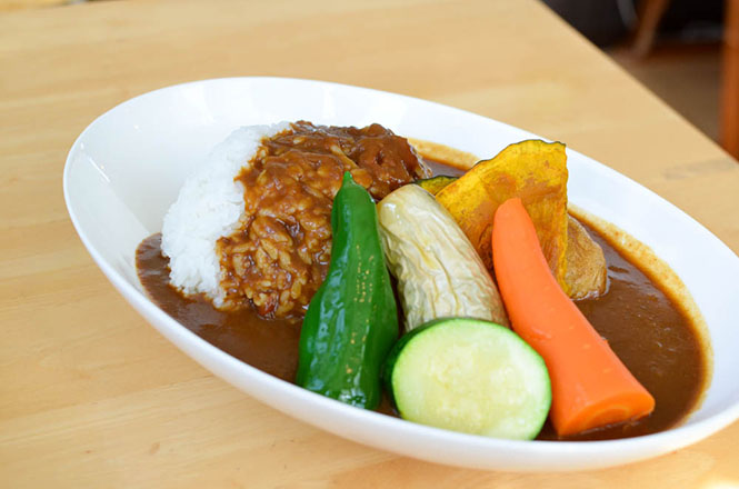 Vegetables Curry and Rice -Azemichi Yorimichi in Kamifurano-