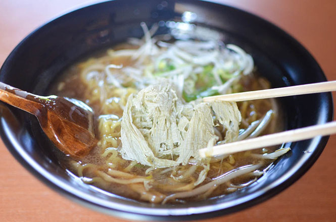 Fried Soy Sauce Broth Ramen Rishiri Ramen -Miraku-