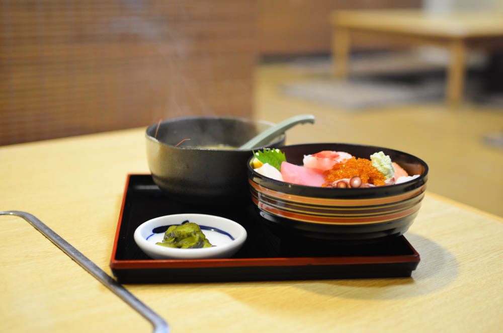 Today's Seafoods Rice Bowl -Sumire in Obira-
