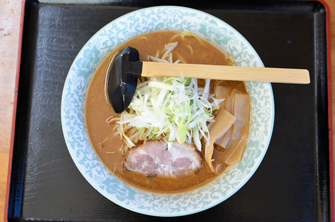Dark-Brown Miso Ramen -Yezo Ramen Katsuji in Rankoshi-