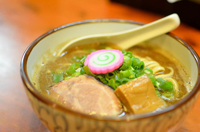 Soy Sauce Broth Ramen with Seafood Soup Stocks -Menya Takahashi in Sapporo-