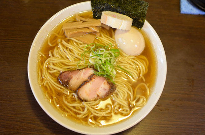 Soy Sauce Ramen with Small Dried Sardine Soup Stock -Mokuyobi in Sapporo-