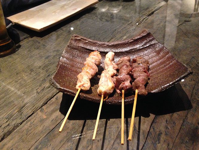 Grilled Chicken on skewer -Q in Sapporo-