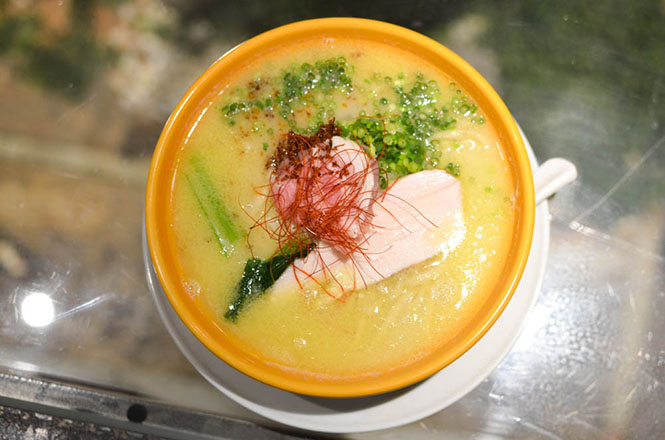Creamy Chicken Broth Salt Ramen -Q in Sapporo-
