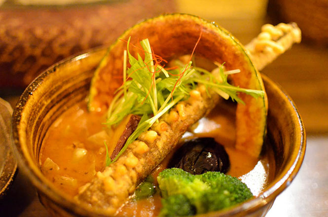 Chicken and vegetables Soup Curry -Soul Store in Sapporo-