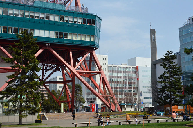 Odori Park and TV Tower in Sapporo