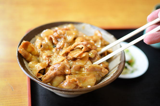Pork Rice Bowl -Takadaya in Takikawa-