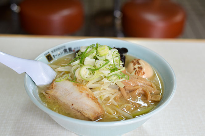 Miso Ramen with Japanese Marinated Soft Boiled Egg 'Kuroobi' -Horyu Head Store in Sapporo-