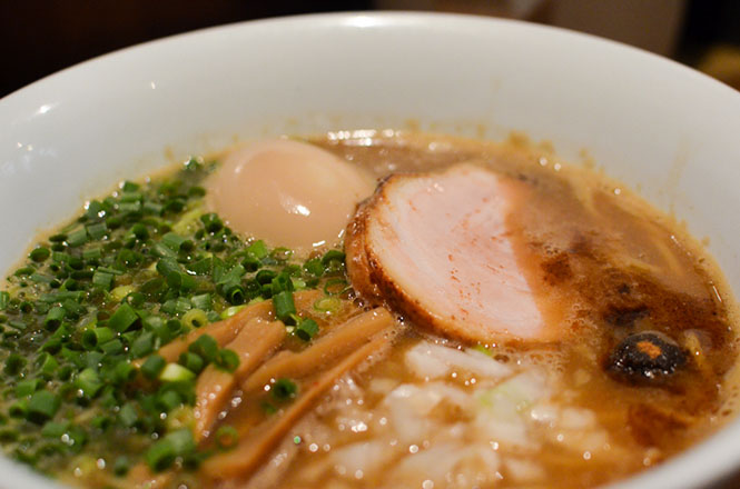 Soy Sauce Ramen with Simmered Egg -Ramen Yoshi in Sapporo-