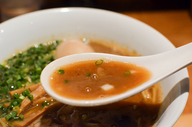 Soy Sauce Broth Ramen with Simmered Egg -Ramen Yoshi in Sapporo-
