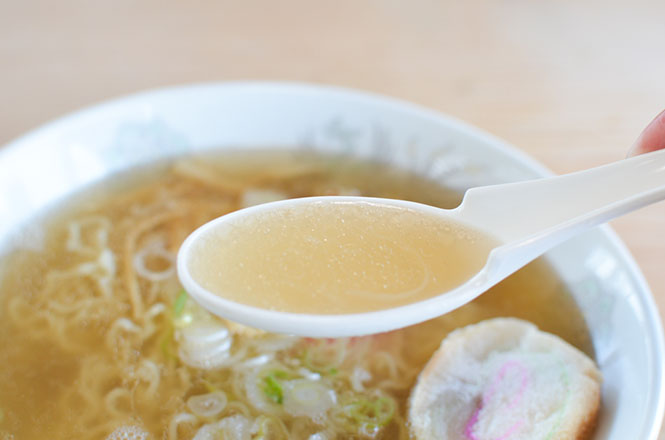 Salt Broth Ramen with Scallop -Mamiyado in Wakkanai-