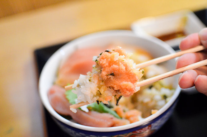 Salted Cod Roe Rice Bowl -Tarakoya Kojohama in Shiraoi-