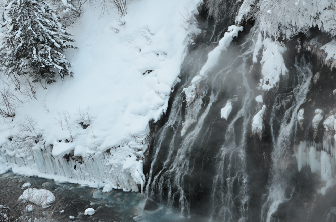 Winter Shirahige Falls in Biei