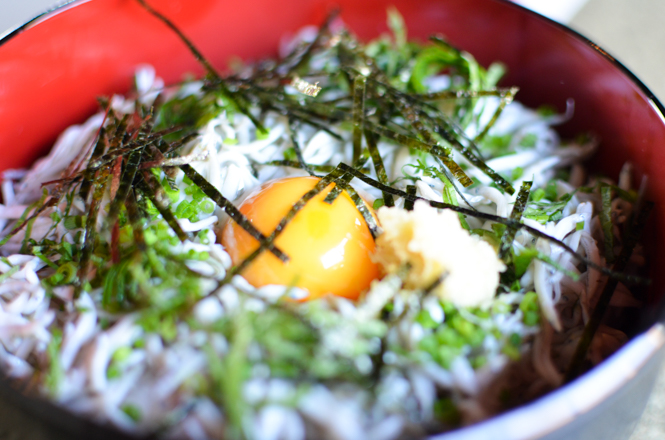 Whitebait Simply Scalded Rice Bowl -Shirasu Kaikan in Suttsu-