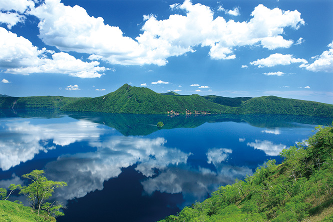 Lake Mashu in Teshikaga