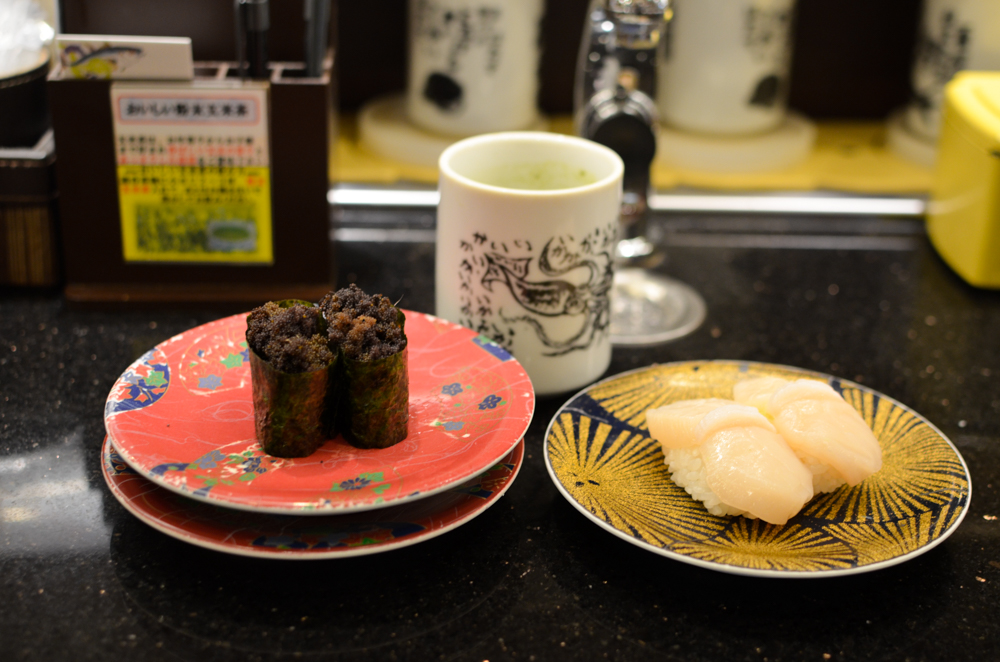 Conveyor Belt Sushi -Nemuro-hanamaru Head Office in Nemuro-