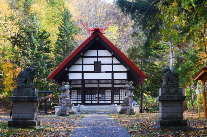 Jozankei Shrine and Fall Foliage